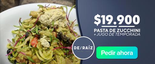 De raiz Pasta de Zucchini + Jugo de Temporada