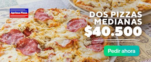 Aprissa Pizza: Dos Pizzas Medianas