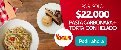montajecali Pasta carbonara + torta con helado