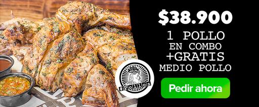 # Pollos: 1 Pollo en combo + Gratis Medio Pollo