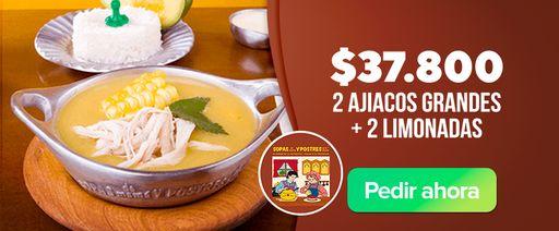 2 Ajiacos Grandes + 2 Limonadas