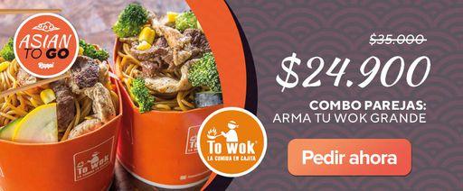 Combo Parejas: Arma Tu wok grande.
