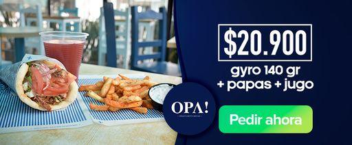 Gyro 140 gr + Papas + Jugo
