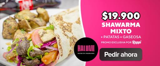 Shawarma Mixto + Patatas + Gaseosa