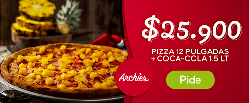Pizza 12 pulgadas + Coca-Cola 1.5 lt
