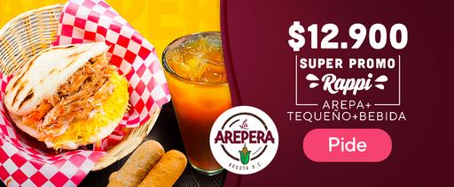 Arepa tequeño + bebida