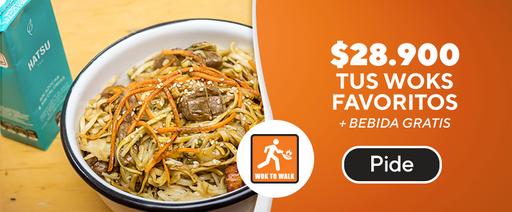 Tus wok favoritos + bebida gratis