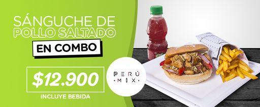 2 x 1 Pollo Saltado peruano con bebidas