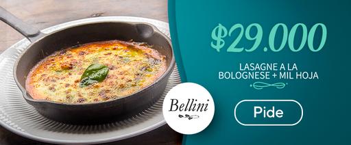 Lasagne a la bolognese + mil hoja