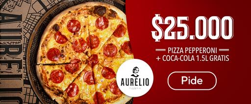 Pizza Pepperoni + Coca-Cola 1.5L gratis