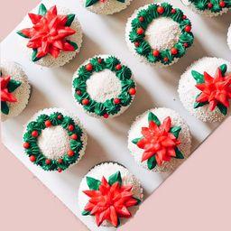 Red Velvet Holiday Cupcake