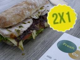 2x1 Sándwiche Pollo & Pesto -Grande 25cm