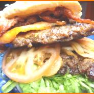 Hamburguesa Doble Carne con Tocineta