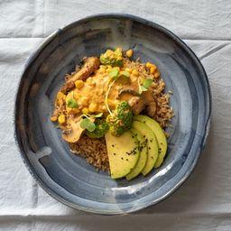 Especial de Pollo Al Curry & Vegetales