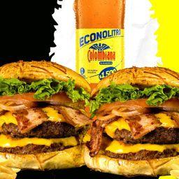 Combo burger doble carne