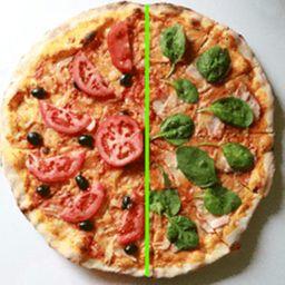 Arma tu pizza por mitades