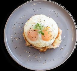 Sándwich Croissant Huevo, Jamón y Queso