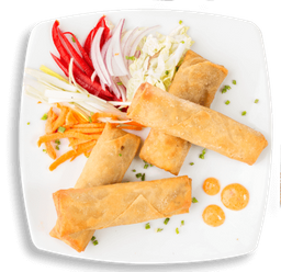 Rollitos vegetarianos thai