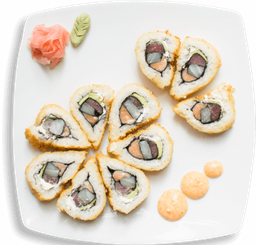 Wok + Sushi roll. 8 bocados 400 gr.