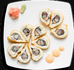 Wok + Sushi roll. 6 bocados