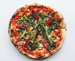 Pizza de Pancetta Curada y Ahumada