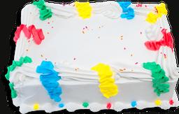 Torta Fiesta Serpentinas de 40 Porciones.
