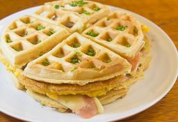 Waffle Huevo y Tocineta