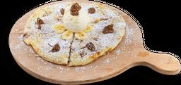 Pizza de Nutella con Banano
