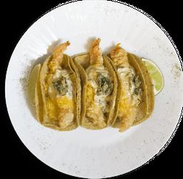 Tacos Gobernador De Langostinos (Sinaloa)