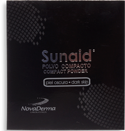 Sunaid Polvo Compacto Caja Con Estuche Con 12 g- Piel oscura