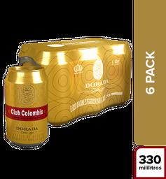 Cerveza Club Colombia Dorada x 6un  en lata