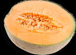 Melon Cantaloupe En Mitad Fresco