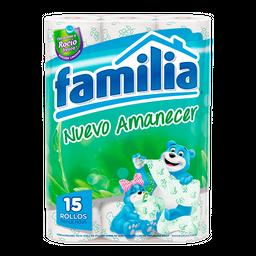 Papel Higiénico Familia Nuevo Amanecer X 15 Rollos