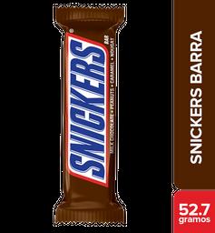 Snickers barra de chocolate y maní