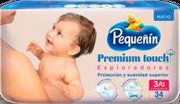 Pañales Pequeñín Premium Touch Etapa 3 x 34 und