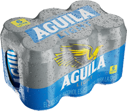 Cerveza Aguila Light - Lata 330ml x6