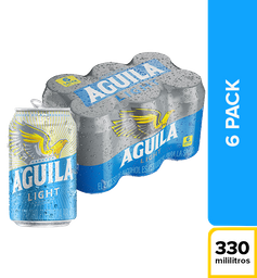 Cerveza Aguila Light - Lata 330ml x6