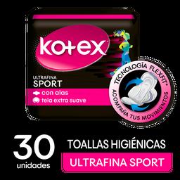 Kotex Toallas Higiénicas Sports Ultra Fina Con Alas