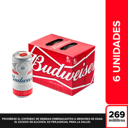 Budweiser Cerveza Six Pack en Lata