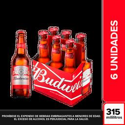 Budweiser Cerveza SixPack en Botella