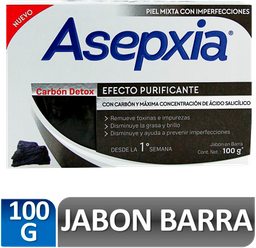 Asepxia Jabon Carbon 100 G