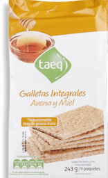 Galleta Saludable Avena Miel Taeq, 1 U