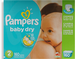 Pañales Baby Dry Medida 2 Pampers