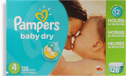 Pañales Baby Dry Medida 4 Pampers