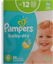 Pañales Baby Dry Medida 6 Pampers