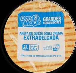 Arepa de queso doble crema extradelgada