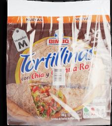 Tortillas con chia quinua roja