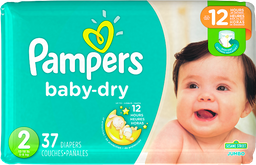 Pampers Pañales Baby-dry Talla 2