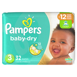 Pampers Baby-Dry Pañales Desechables Talla 3 32 Unidades