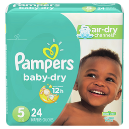 Pampers Pañales Baby-dry Talla 5